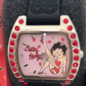 F.A.B. Clicks Jewelry - Betty Boop Watch with Black Band